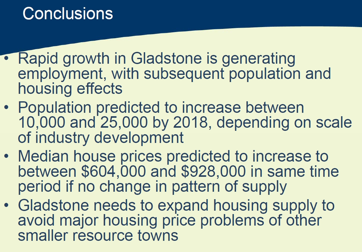 Gladstone Population Increase
